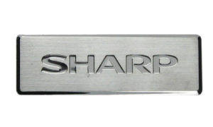 Sharp Logo Metal Nameplate