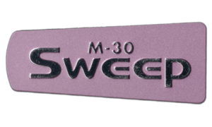M-30 Sweep Logo Plastic Nameplate